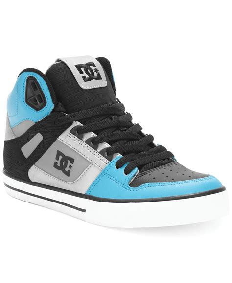 dc shoes for lyst dc shoes spartan high wc sneakers in blue for