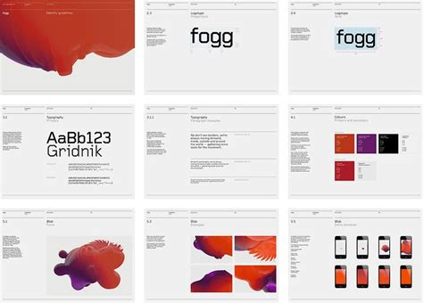 layout brand guidelines brand guidelines http www bunchdesign com projects fogg