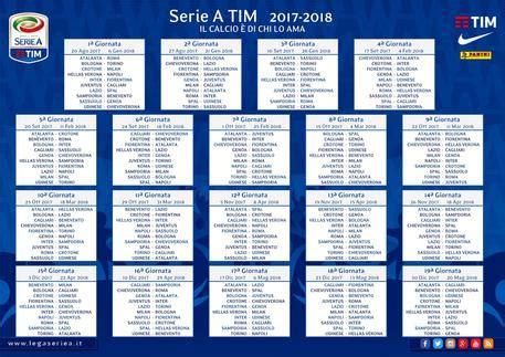 Calendario 5 Squadre Calendario Serie A 2017 18 Definiti Anticipi E Posticipi
