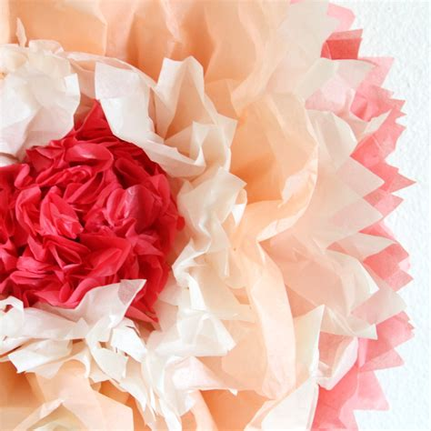 Make Big Paper Flowers - how to make tissue paper flowers