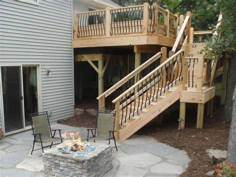 add stairs more storage plus patio and or garage house deck stairs and steps outdoor design landscaping ideas