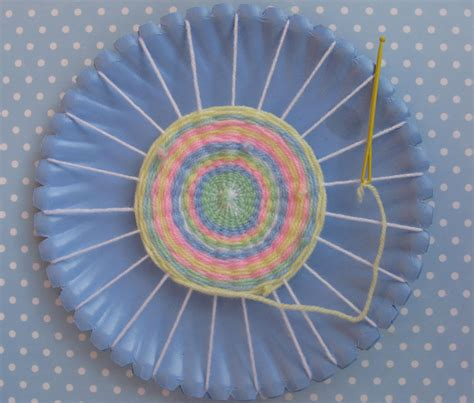Paper Plate Weaving Craft - joyful s place steps in sewing paper