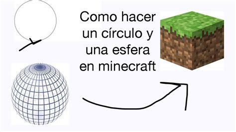 como hacer una vaguita en foy como hacer un c 237 rculo y una esfera en minecraft youtube