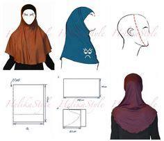 Jilbab Instant Jamila Cutting Kerudung Syari Instan how to make khimar longer helikastyle sewing