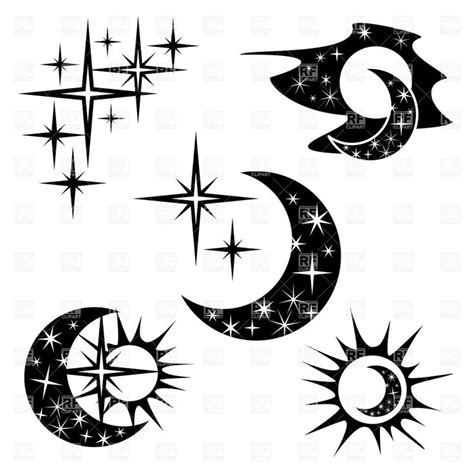 star outline tattoo 40 best half moon and outlines images on