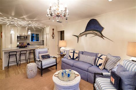 excellent nautical living room in small home decor