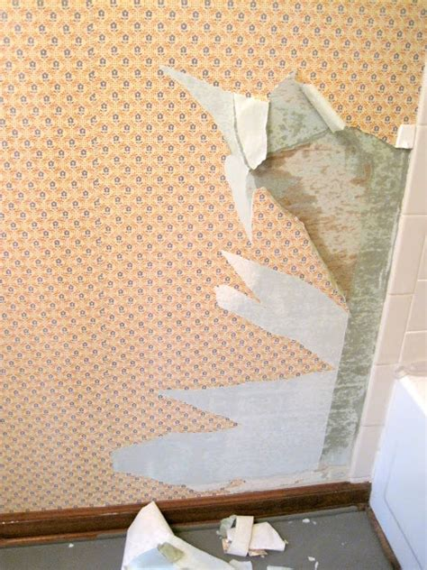 stripping in bathroom how to remove wallpaper step by step