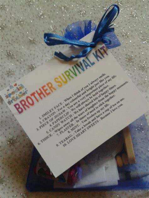 brother survival kit novelty keepsake christmas birthday