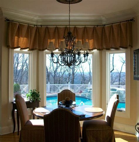 bay window curtain ideas dining room traditional with bay bow window treatments ideas bay wind with breakfast nook