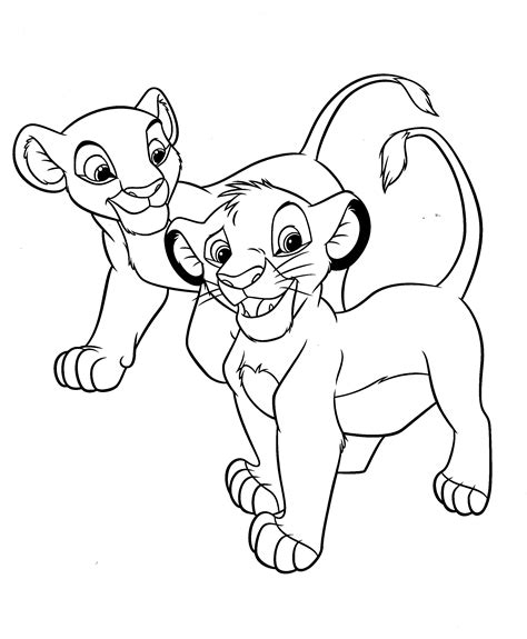 simba and nala picture to color pictures to pin on