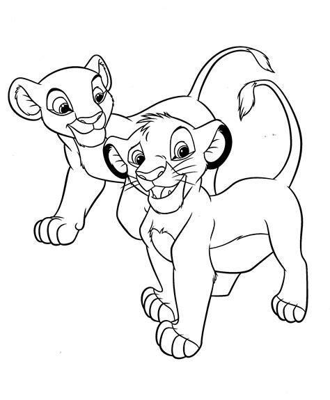 lion king coloring pages simba and nala lion king simba and nala coloring pages