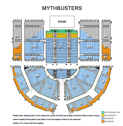 entertainment centre floor plan mythbusters behind the myths tour