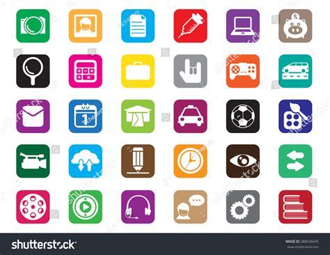design windows icon thirty flat icons design desktop icon stock vector