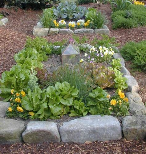 Landscape Edging With Boulders Detail Of Quot One Boulder Quot Edging For Raised Beds