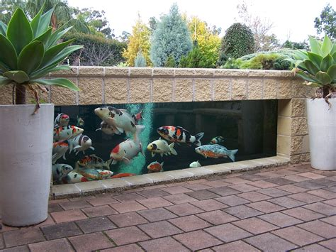 ponds don t always to be in ground this koi pond