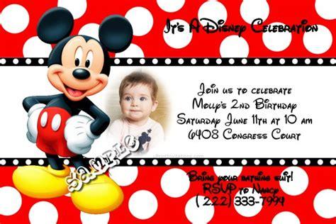 mickey mouse polka dot disney birthday invitations all colors