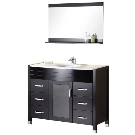 home depot design element vanity design element cascade 48 in w x 22 in d vanity in