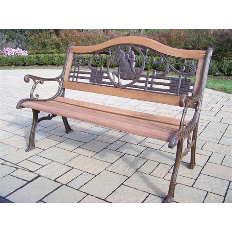 benches amazon amazoncom oakland living horse bench outdoor benches patio