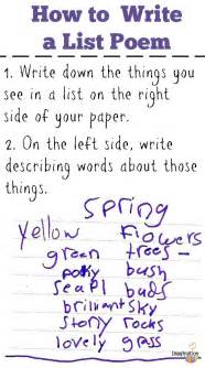 list poems fun poetry with kids