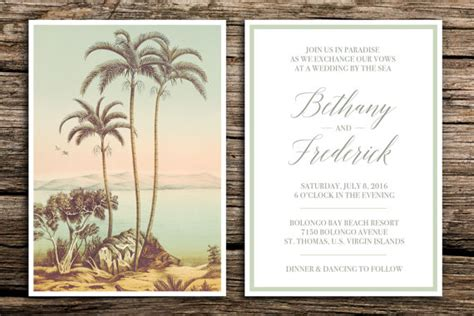 tropical wedding invitation sets tropical paradise wedding invitation set destination