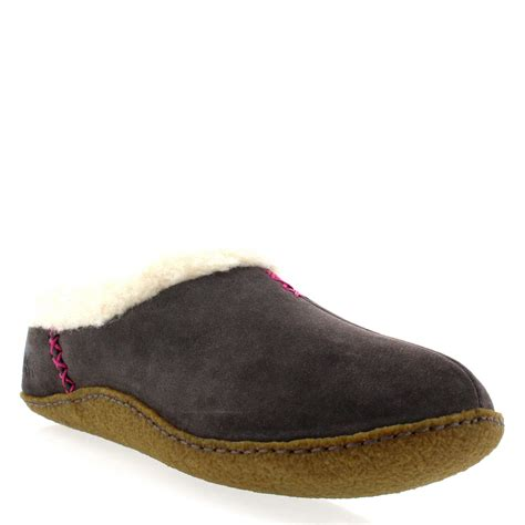 women house shoes womens sorel nakiska winter fur lined warm suede house shoes slippers uk 3 9
