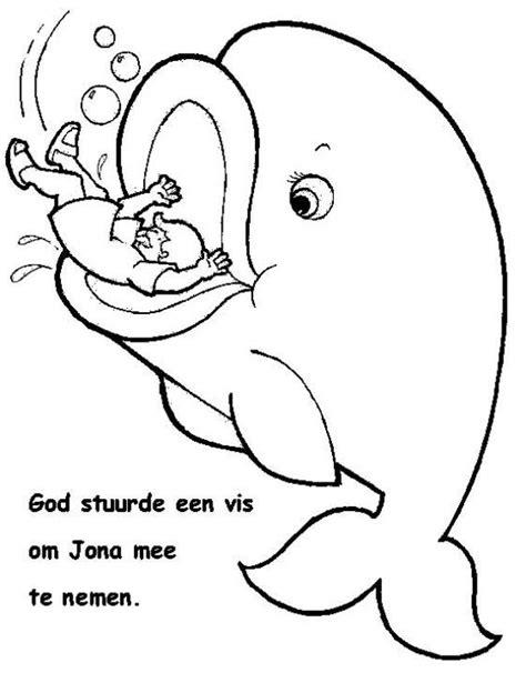 imagenes biblicas de jonas dibujo para colorear de jon 225 s cuando es tragado por un pez