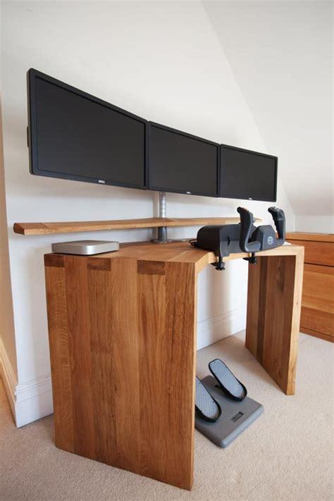 Flight Desk by Bespoke Oak Desk Wood Works Brighton