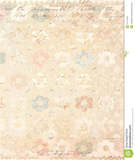 vintage shabby chic l shabby chic vintage floral background with script stock