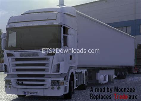 trailer white free ets2 mods simple white trailer