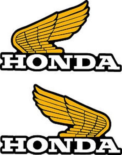 classic honda logo 1982 honda xl250r tank wings decals