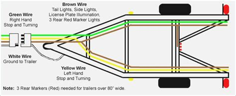 4 wire trailer light diagram trailer free printable wiring