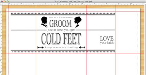 Sock Label Template Learn How To Make An Adorable Groom Cold Feet Socks Gift
