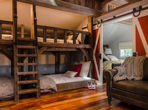 bunk bed room rustic bedroom furniture decorating ideas hgtv