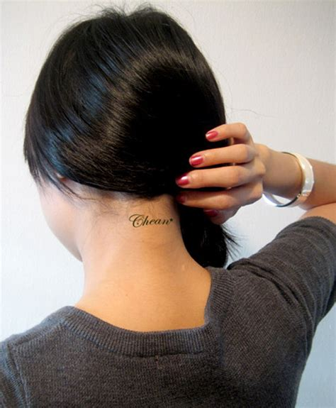 small neck tattoos female 83 neck tattoos for