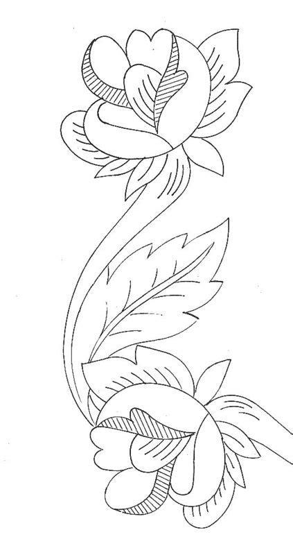 disegni di fiori da ricamare disegni di bordure con per ricamo arte ricamo