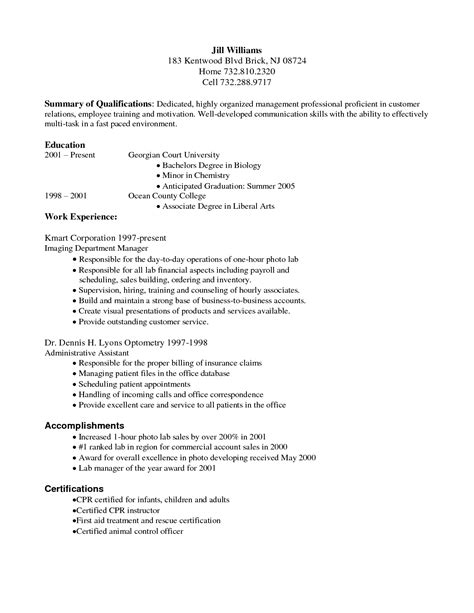 billing resume sles summary of qualifications