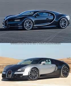 Bugatti Vs Bugatti Veyron Bugatti Chiron Vs Bugatti Veyron Front Three Quarters