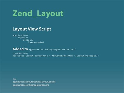Zend Layout Path | zend framework introduction
