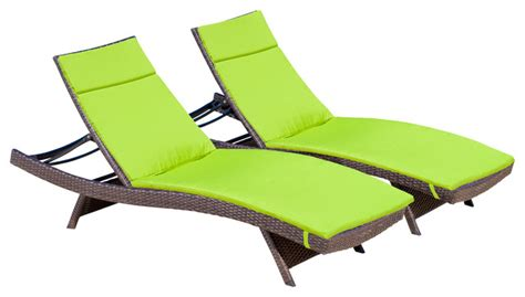 Patio Lounge Chairs With Cushions Lakeport Outdoor Adjustable Chaise Lounge Chairs W