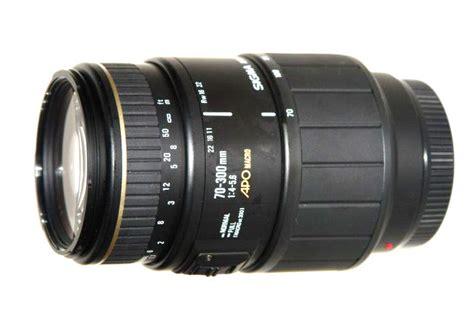 sigma 70 300 f4 5 6 apo macro a mount lens info