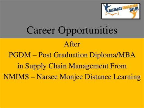 After Diploma Mba Is Possible by Career Opportunities After Post Graduation Diploma In