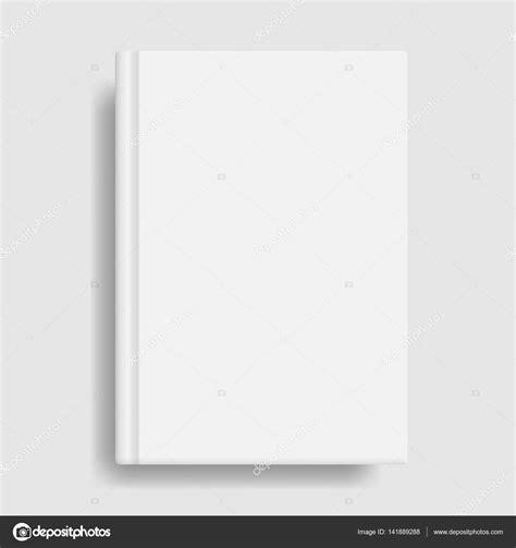 book cover template illustrator book cover mockup blank white template stock vector