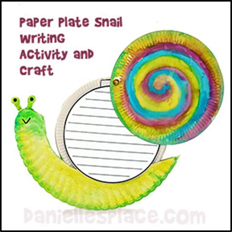 Snail Paper Plate Craft - snail crafts and activities for educational snail crafts