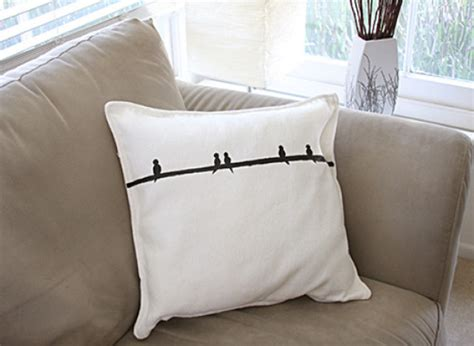 craft of the day freezer paper stenciled pillow huffpost