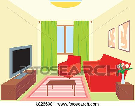 living room clip art clipart of living room k8266081 search clip art