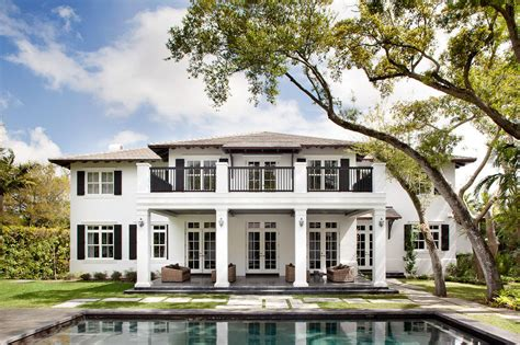 plantation style homes neoclassical style miami home with pool pavilion