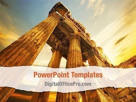 Roman Columns Powerpoint Template Backgrounds Digitalofficepro 00272 Youtube Ancient Greece Powerpoint Template