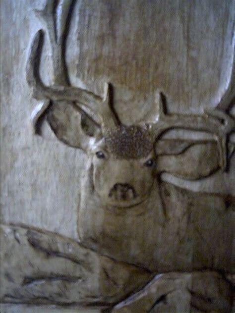 custom mule deer relief carving  toms wood art custommadecom