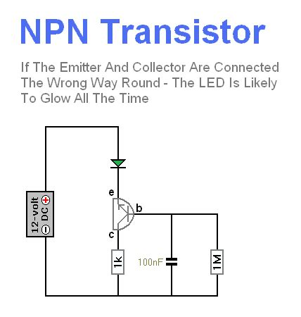 npn transistor circuit diagram npn transistor basic circuit circuit diagram seekic