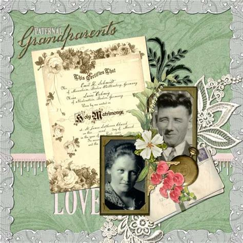 scrapbook layout exles vintage look scrapbooking layout this layout is an